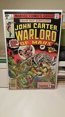 John Carter, Warlord Of Mars #1.    (Nm-)   ~Origin Issue~   First Print.  1977