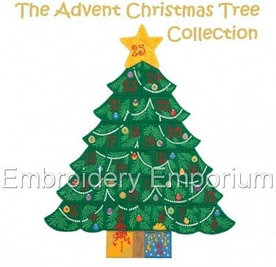 The Advent Christmas Tree Collection - Machine Embroidery Designs On Cd