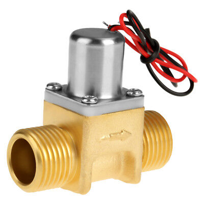 "DC3.6V 1/2"" Water Flow Pulse Electromagnetic Valve Brass Solenoid Valve New"