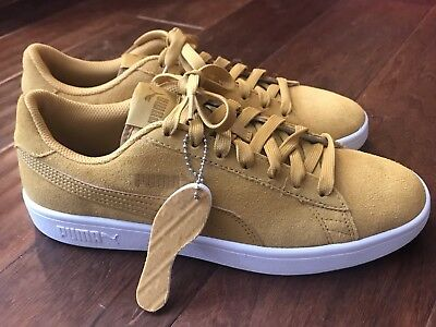2b73c9bb2690 Puma 364989 Smash V2 Honey Mustard White Men s Athletic Sneaker Shoe Sz 7.5  NEW