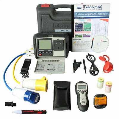Megger PAT120 Hand Held Battery Operated Portable Appliance PAT Tester KIT5O