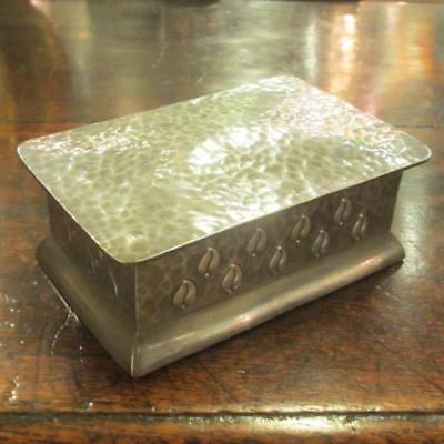 Pewter Arts and Crafts Hammered Casket Antique Victorian c.1890. BLA03369