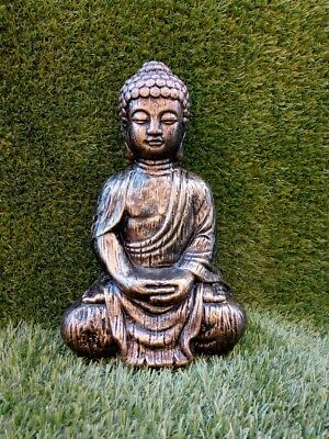 Buddha Reconstituted Stone Garden Ornaments. Various Colours - Free UK P&P