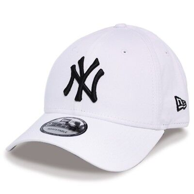 New Era NY New York Yankees 9Forty Baseball Cap White Adjustable - OSFA