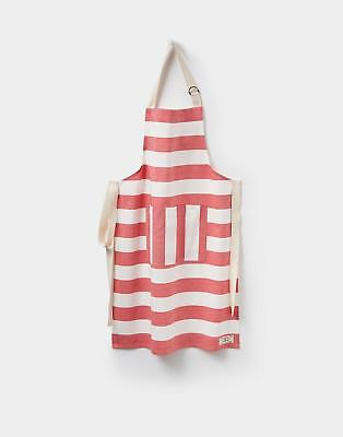 Joules Galley Grade Apron in RED STRIPE in One Size
