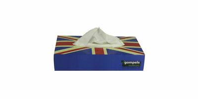 Proform 2 Ply Union Jack Facial Tissues Pack of 100 (36 Boxes) | 3600 Tissues