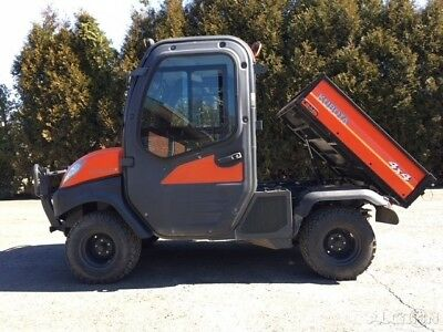 2011 Kubota RTV 1100 Utility RTV Vehicle Side by Side 4x4 Full Cab AC Dump Bed