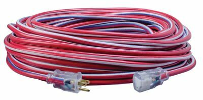 Southwire 2549SWUSA1 100-Feet Contractor Grade 12/3 with Lighted End Exten. Cord