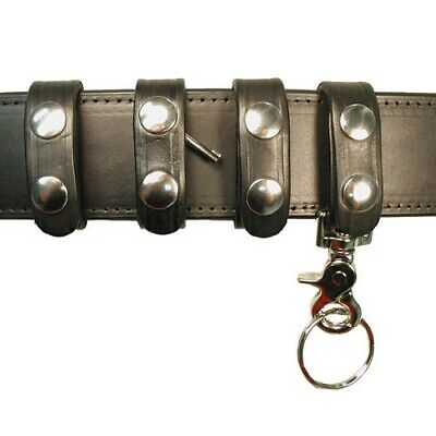 "Boston Leather 7500-1 Black Deluxe Belt Keeper Combo Pack For 2-1/4"" Duty Belt"