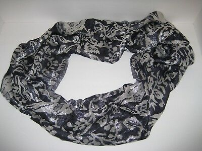 JCP Navy and Silver Infinity Scarf