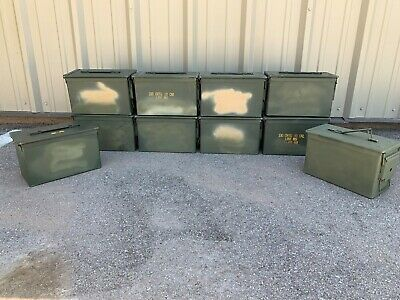 9 Pack | High Quality | Empty | 50 Cal | Ammo Can | Free Shipping
