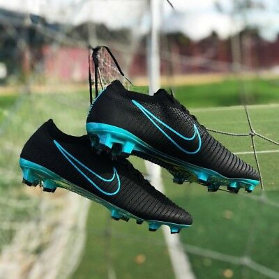 077f4f9444ed NEW LIMITED NIKE Mercurial Vapor Flyknit Ultra FG (Black Blue) Size ...
