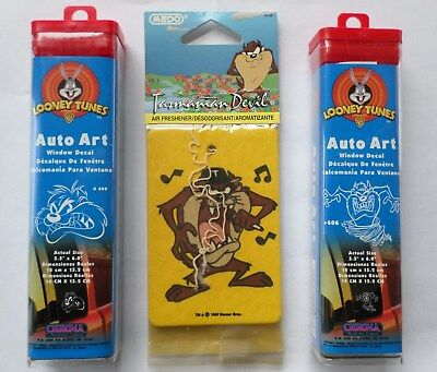 Looney Tunes Tazmanian Devil Auto Art and Air Freshener Assortment, Lot of 3