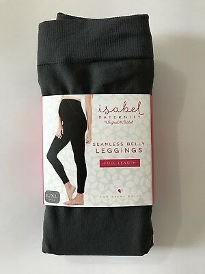 Ingrid & Isabel Maternity Seamless Belly Leggings Full Length L/Xl Gray
