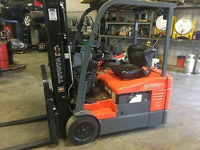 2011 Toyota Electric Forklift With New Battery And Warranty