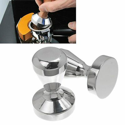 51mm Stainless Steel Coffee Tamper Espresso Barista Polished SUPER HEAVY 570g