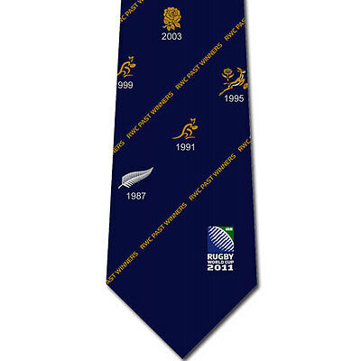 Rugby World Cup RWC 2011 PAST WINNERS TIE - NAVY ***NOW HALF PRICE***