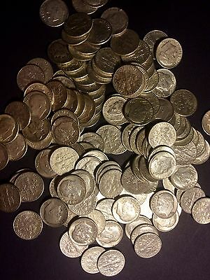 2 POUND LB BAG ALL DIMES (32 OUNCES OZ) U.S. Junk Silver Coins ALL 90%  PRE 64 1