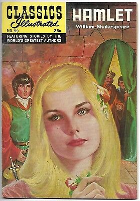 "Classics Illustrated #99 (1969) – HRN 169 – ""Hamlet"" by William Shakespeare – FN"