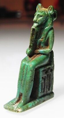 Zurqieh -As5442- Ancient Egypt. Large Faience Amulet Of Sekhmet. 600 - 300 B.c