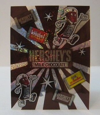 Vtg Hershey's Chocolate Candy Shimmer Sparkle Iridescent Stickers Sheet of 11