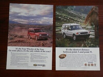 Lot of 2 1995 Print Ads, Land Rover Discovery