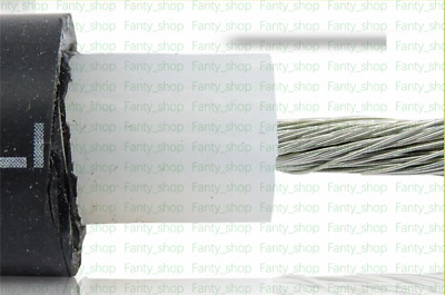 1M OD 15mm 150KV 4mm² (~11AWG) DC High Voltage/Temperature 200° Wire Cable VF12C