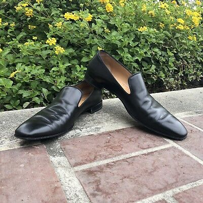 brand new 35cfa c0bd0 CHRISTIAN LOUBOUTIN DANDELION Flat Black Leather Loafer Red Bottom Sz 43.5  10.5