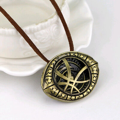 Strange Dr. Doctor Pendant Eye of Agamotto Chain Necklace Cosplay Marvel Movie