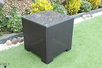 OUT OF STOCK - Cieux Provence Patio Outdoor Dark Chocolate End Table