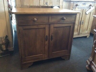 Antique Pine Dresser Base/ Cupboard (M)