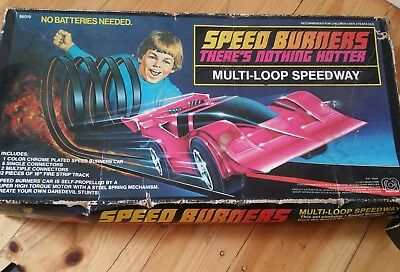 Vintage 1977 Speed Burners Multi-Loop Speedway Mego Corp Retro