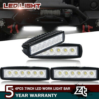 4x 7INCH 36W FLOOD LED WORK LIGHT BAR OFFROAD ATV FOG SUV TRUCK 4WD 12V VS SPOT