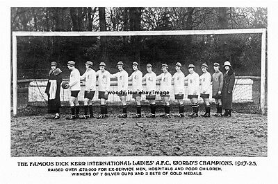 pt3112 - Preston , Dick Kerr Ladies Football Team , Lancashire - photo 6x4
