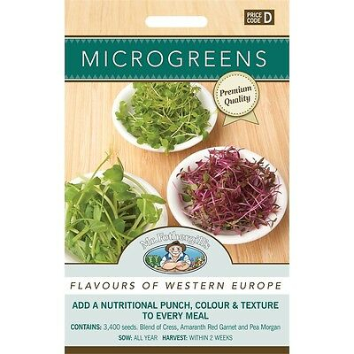 Mr Fothergill's Microgreens Flavours Of West Europe