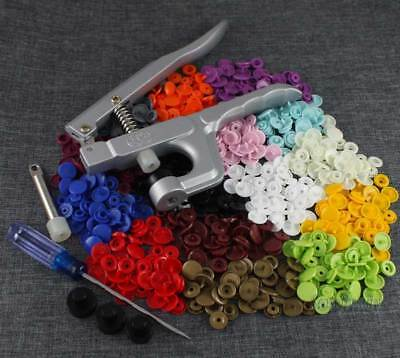 1 Set KAM Snap Press Plier Button Fastener Kit / 150 Sets T5 Snap Resin Fastener