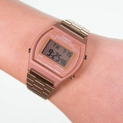 Casio Collection Ladies Retro Digital Watch - bronze (Model No. B640WC-5AEF)