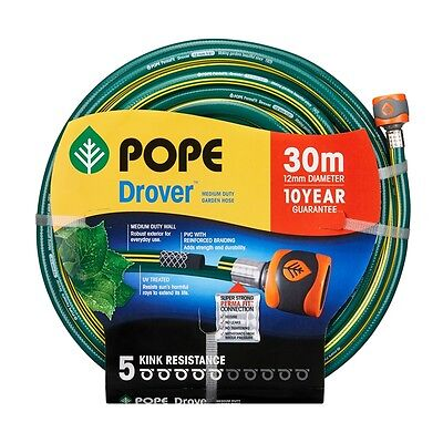 Pope 12mm x 30m Drover Fitted Garden Hose