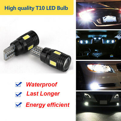 2 Pcs T10 LED Car Lights High Power Bulb Daytime  Fog License Plate Light 6000K