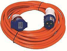 caravan motorhome electrics mains extension lead cable LONG 25M hook up 240v