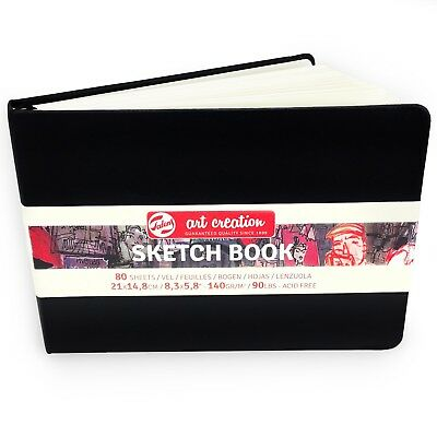 Royal Talens – Art Creation Hardback Sketchbook – 80 Sheets – 21x14.8cm - Black