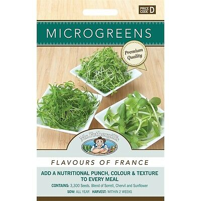 Mr Fothergill's Microgreens Flavours Of France