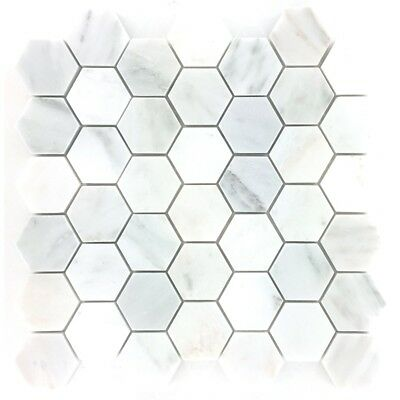 Decor8 Tiles 300 x 300 x 10mm Florentine White Marble Tile Mosaic