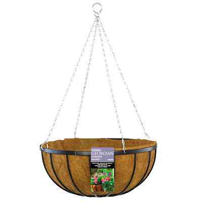 Gardman 45cm Black Georgian Hanging Basket