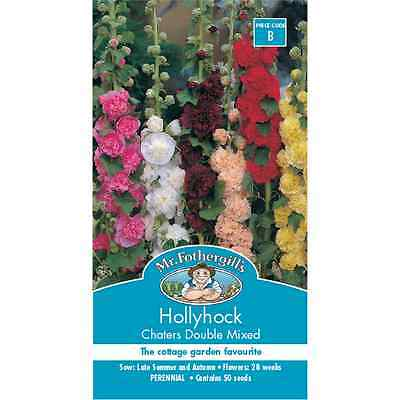Mr Fothergill's Hollyhock Chaters Double Flower Seeds