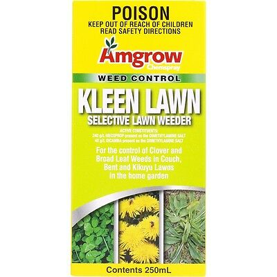 Amgrow 250ml Kleen Lawn Selective Herbicide