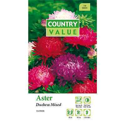 Country Value Aster Duchess Mixed Flower Seeds