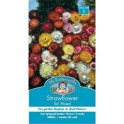 Mr Fothergill's Strawflower Tall Mixed Flower Seeds