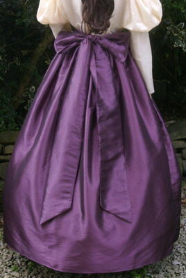 Ladies Victorian / Edwardian costume skirt & sash gentry / ball gown skirt(aube)
