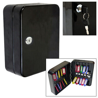 Voche 20 Hook Wall Mountable Lockable Steel Key Cabinet Security Safe With Fobs